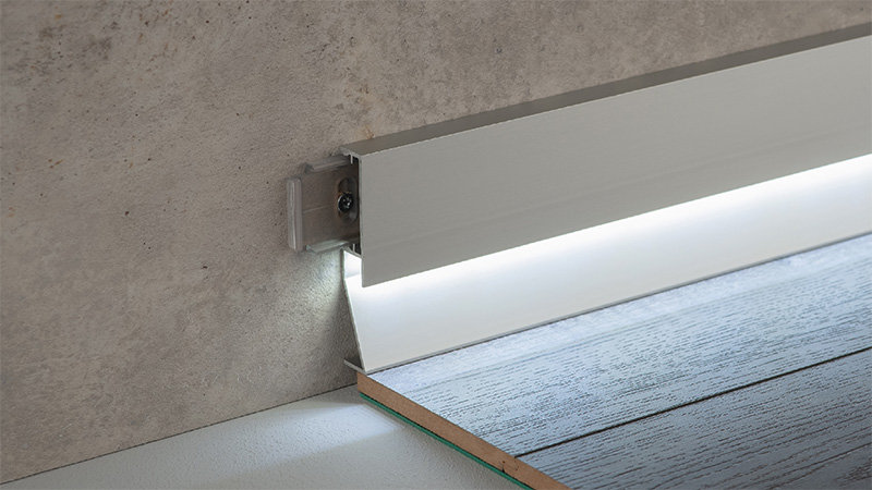 LED-Clips-Sockelleisten