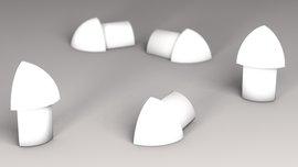 Außenecken für Viertelkreisprofil